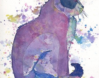 Purple Cat PRINT