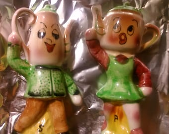 ELVEN Teapot Couple salt and pepper shakers