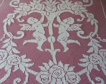 15%, covers bed, bed Coverlet, Bed cover angelot, handmade, Bed Coverlet handmade
