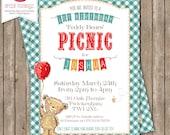 Printable Teddy Bears' Picnic Invitation