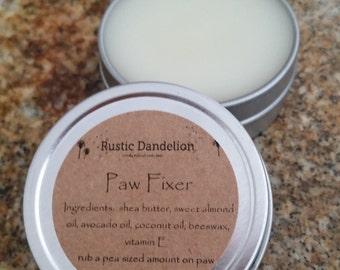 Paw Fixer Balm, 2 ounce, Dog Balm, Pet Balm, Paw Balm, Paw Butter, Pet Friendly, Pet Salve, Rough Paws, Unscented, Lavender, Cedarwood