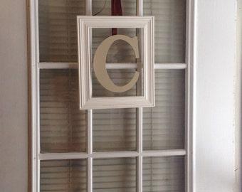 Picture frame letter door hanger