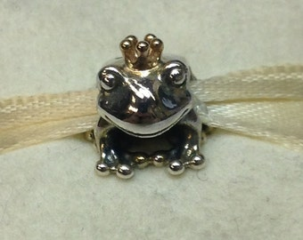 Authentic Pandora Two-Tone Frog Prince Charm #791118