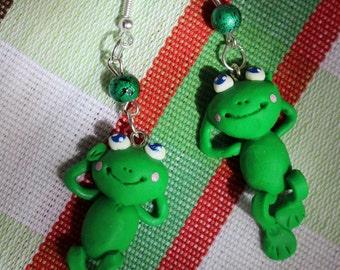 cute frog earrings
