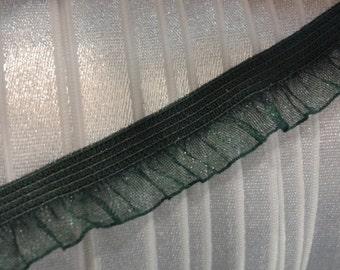1/2 Inch Elastic Trim By The Yard - Dark Green