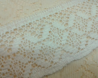 2 Inch White Cotton Lace Trim By The Yard