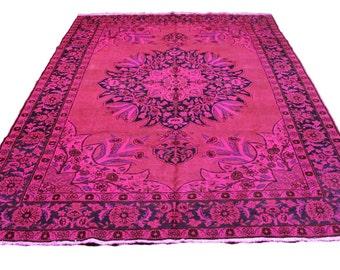 navy and pink rug etsy. Black Bedroom Furniture Sets. Home Design Ideas