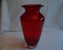 Beautiful Red Glass Vase