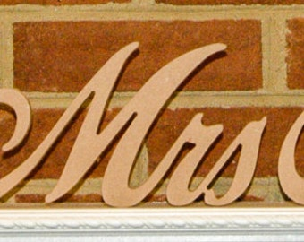 Mr and Mrs Wedding Table Letters Set with Surname Included