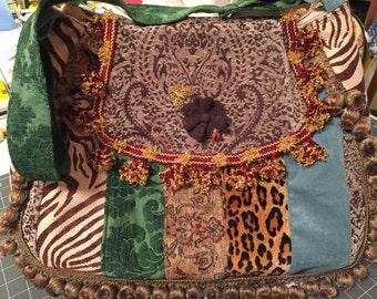 Lovely handmade hobo handbag