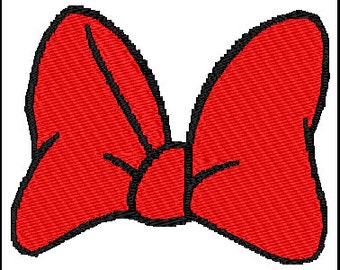 Minnie Mouse Bow Embroidery Design