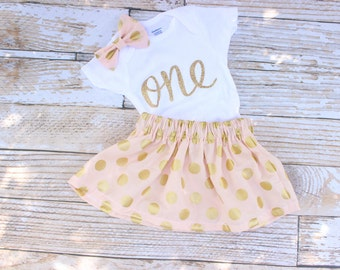 Pink First Birthday Outfit, Girls Birthday, Baby twirl skirt, 1st birthday outfit, toddler birthday, cake smash outfit girl