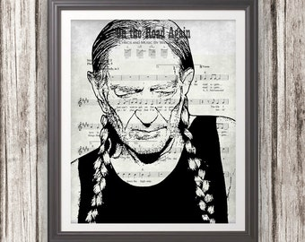 Willie nelson | Etsy