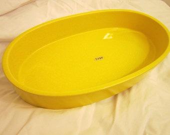 Vintage Oval Ikebana Bowl (Yellow)