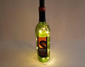 Lighted Wine Bottle Etsy