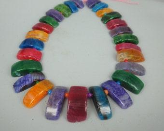 Agate, Rainbow Agate Pendant Druzy Gemstone Necklace Pendants
