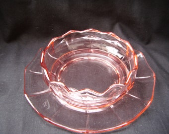 Vintage Pink Glass Fruit Set