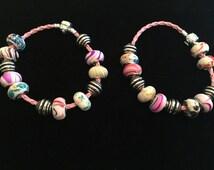 SALE!!! Charm bracelets, colorful charms, pink charm bracelet, summer jewelry, Mother's Day, wedding, body jewelry, charms, like pandora