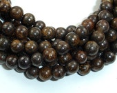 Bronzite Beads, Round, 6mm (6.7 mm), 15.5 Inch, Full strand, Approx 62 beads, Hole 1 mm, A quality (174054002)