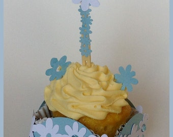 Baby Shower Cupcake Wrapper and Topper (Set of 10)
