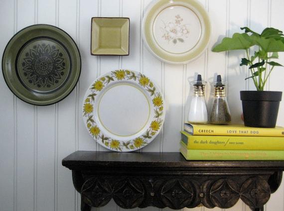 Decorative Wall Plates Kitchen : Decorative plates kitchen wall decor shabby by