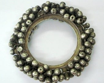 vintage antique ethnic tribal old silver bracelet bangle cuff belly dance jewelry