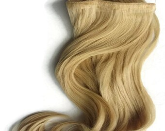"Hair Fusion Invisible Micro-Loop Headband Secret Extensions -""Halo Style Hair""-multi-colors-salon-inspired ""LIGHT BLONDE"""