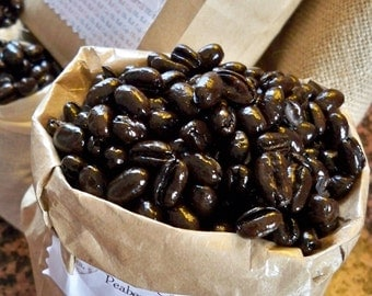 Cafe Passion, Organic Cameroon Peaberry Coffee, French Roast Coffee Lovers Gift, 1/2 lb Bag, Roasted Coffee Beans, Gourmet Coffee Lover