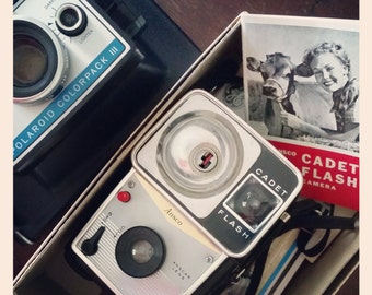 Retro Cameras on Metal