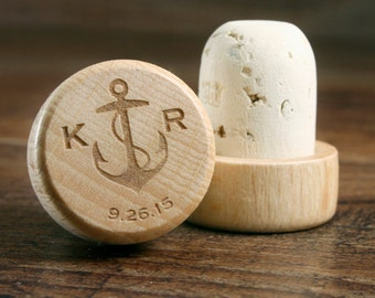 Bulk Personalized Wine Stopper Engraved, Nautical Wedding Favor, Wine  Wedding Gift, Wine Corks