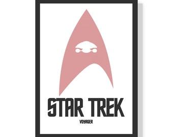 Star Trek - Voyager - minimalist - Premium A2 LARGE Poster Print