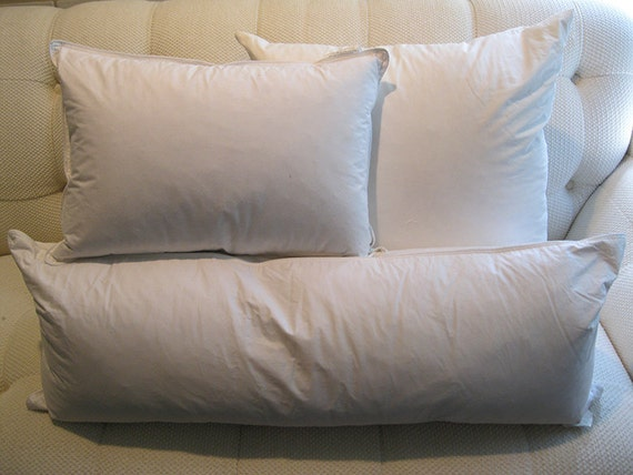 Decorative Down Pillows : Feather-Down Pillow Insert Decorative Pillow Inserts