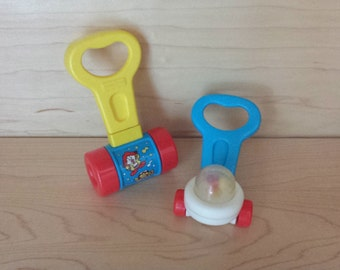 Fisher Price miniature push and pull toys