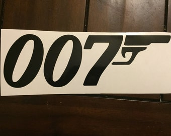 007 James Bond decal