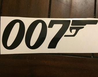 007 James Bond decal