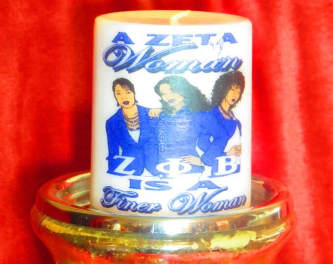 "Designer Candles ""Zeta Phi Beta Sorority"" Design"