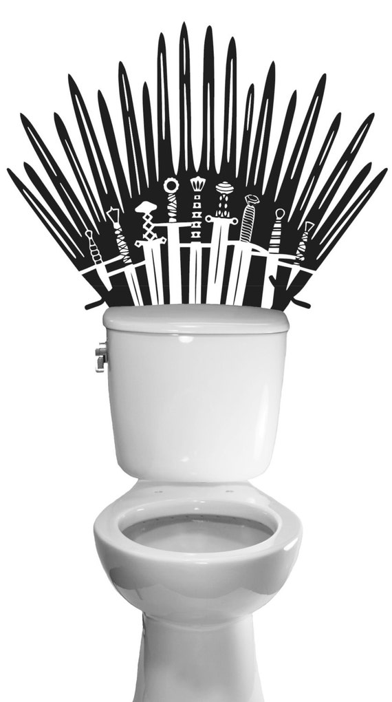 Iron Throne Game Of Thrones Decal Toilet Bathroom By