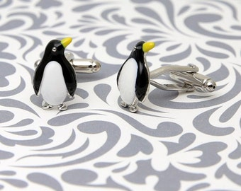 Penguin Animal Winter Cufflinks