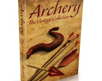 35 Vintage Archery Books Books on DVD Bow Arrow Quiver Crossbow Quarrel Stave