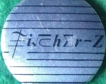Vintage 1980's Fischer Z badge
