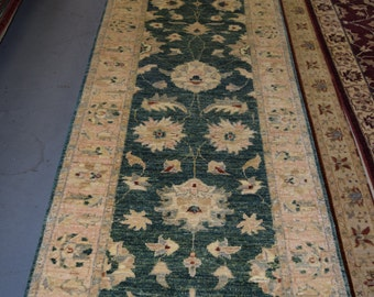 Hand knotted Oriental rug runner