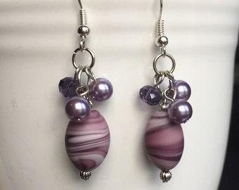 Purple Paradise Dangle Earrings