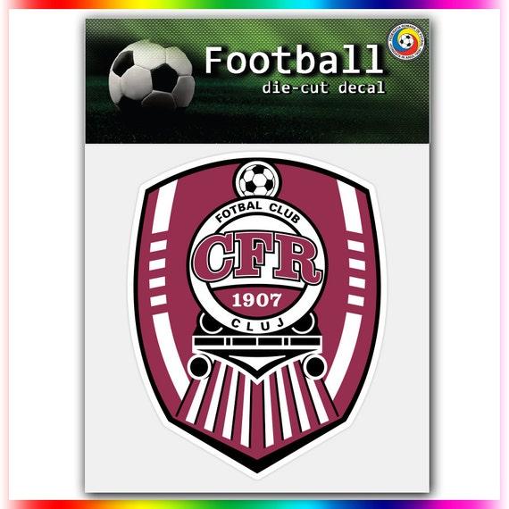 Cfr Cluj: CFR 1907 Cluj Romania UEFA Football Logo Decal By