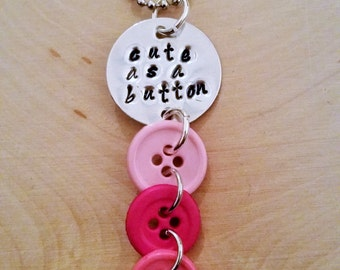 Cute as a Button Necklace
