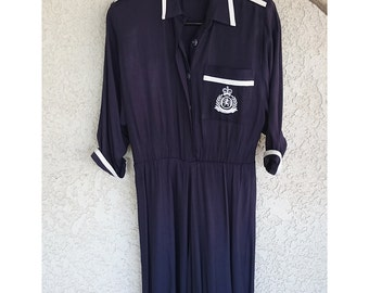 Nina Piccalino: Vintage 80s navy blue sailor dress