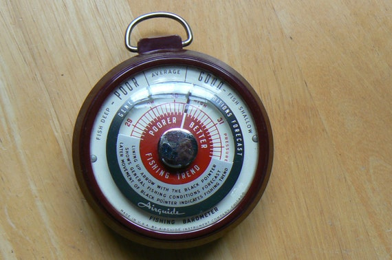Vintage airguide fishing barometer model 255 for Barometer and fishing