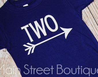 Boys Birthday Shirt, Custom Boys Birthday Shirt, Any Age, Your Choice of Colors, Arrow Birthday Shirt, Birthday Gift