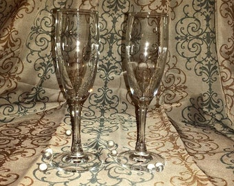 set of two glasses