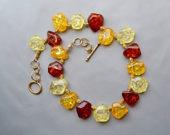Different shades of Amber Necklace