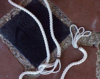 Vintage Faux Pearl Lariat Necklace (On Sale 12.00)
